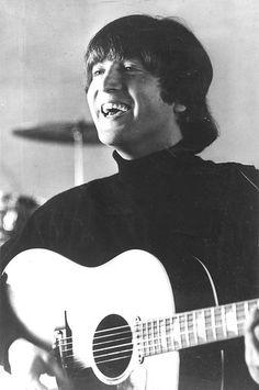 John Lennon - Probably one of my favorite photos of him. He looks like he's doing something he loves.