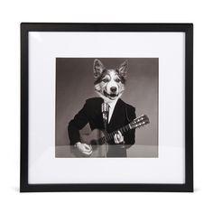 Image imprimée encadrée 40x40cm Noir et blanc - Dog Lucien - Les toiles décoratives - Affiches et déco murale - Toute la déco - Décoration d'intérieur - Alinéa