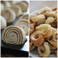 Fixe Zimtringelschnecken - Fertigblätterteig aus dem Kühlregal ausrollen, mit Zimt und Zucker bestreuen, wieder zusammenrollen und in ca. 3 cm dicke Streifen schneiden. In eine Muffinsbackform setzen, (Butter Brownies Cake)