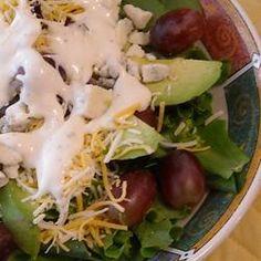 Blue Cheese, Avocado, and Grape Salad Allrecipes.com