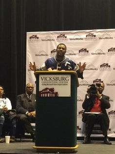 """""""If you want to succeed, all you need to do is believe."""" - Malcolm Butler getting the key to the city of Vicksburg."""