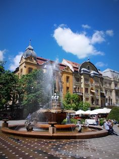 Timisoara- Center of the town fountain Oh The Places You'll Go, Great Places, Places Ive Been, Beautiful Places, Romania Tours, Romania Travel, Around The World In 80 Days, Travel Around The World, Around The Worlds