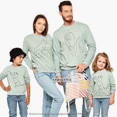 Matching Family Sweatshirts, Family Blouses, Matching Family Outfit, Family Home Set, Cute Sweatshirts, Family Graphic Sweatshirts, Family
