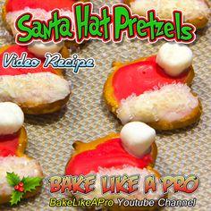 Santa Hat Pretzels Recipe ►CLICK PICTURE to watch recipe Baking Recipes, Holiday Recipes, Great Recipes, Holiday Baking, Christmas Baking, Pretzels Recipe, Santa Hat, Food To Make