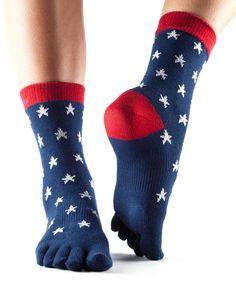 Loving this ToeSox Starboard Full-Toe Organic Crew Socks on #zulily! #zulilyfinds