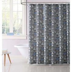 Robots Gear Shower Curtain