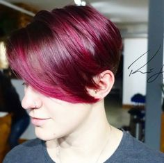 I love everything about the cut and color by stylist @reneelalondehair its Wild Orchid from #pravana by nothingbutpixies