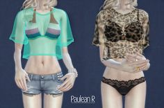 Sexy Transparent Shirt by PauleanR. Sims 4 Cas, My Sims, Sims Cc, Sheer Clothing, Sims 4 Clothing, Female Clothing, Transparent Shirt, Sims 4 Blog, Sims 4 Teen