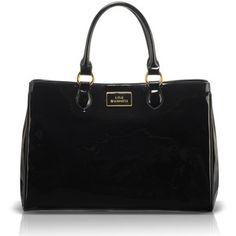 LULU GUINNESS Black Patent Leather Large Amelia