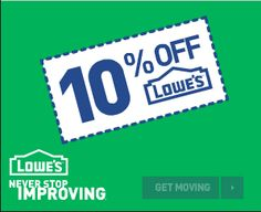 Lowes 10 off coupon are a great way to save at Lowe's Home Improvement, an instant Lowes coupon like a lowes 10 off coupon code can save you hundreds of dollars each time you go to the home improvement warehouse. So click below and get your lowes coupon code before going shopping.