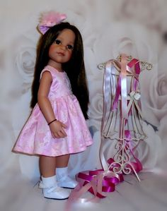 Dress & hair bow Gotz Hannah/happy kidz/designafriend dolls by Vintagebaby