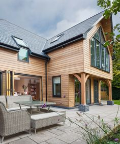 Self Build / Front Exterior House. Timber frame house with timber cladding. Modern house ideas. Home building ideas Cost of building a house.