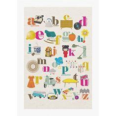 affiche Abécédaire rétro Studio Jolis mômes - Deco Graphic