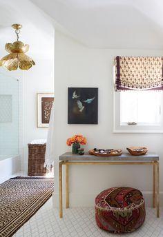 Diy Bathroom Decor, Boho Bathroom, Master Bathroom, Interior Decorating, Interior Design, Chic Bathrooms, Small Furniture, Accent Furniture, Inspired Homes