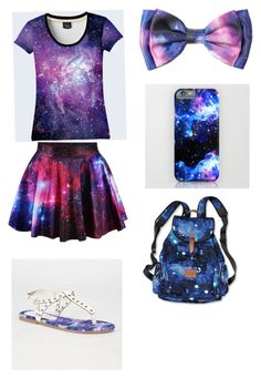 """""""Galaxy outfit"""" by reaganlucas2003 ❤ liked on Polyvore featuring Victoria's Secret and Diva Lounge"""