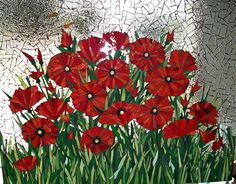 sugwileypoppies by Mosaics by Marlene, via Flickr