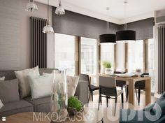 Projekt nowoczesnego mieszkania - zdjęcie od MIKOŁAJSKAstudio - Salon - Styl Skandynawski - MIKOŁAJSKAstudio