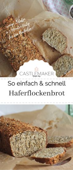 Schnelles Haferflockenbrot This delicious filling bread with oatmeal and skyr is not only delicious, Banana Bread Recipes, Egg Recipes, Fish Recipes, Crockpot Recipes, Cookie Recipes, Chicken Recipes, Desserts Végétaliens, Healthy Dessert Recipes, Breakfast Recipes