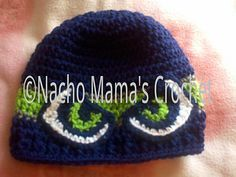 I hope you have fun with this pattern. Play with stripes or appliques or flowers! It's quick to make. Samples shown were made for the Superbowl. The Denver Broncos & Seattle Seahawks. The eye pattern is from Misty Makes here on Ravelry. I hope you enjoy the pattern.