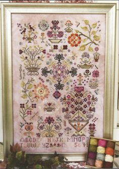 ROSEWOOD MANOR Summer Quakers Cross Stitch by NeedleCaseGoodies