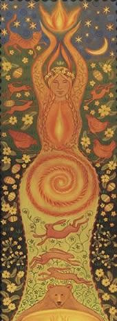 """Element Fire:  """"#Fire Goddess,"""" by Wendy Andrew."""