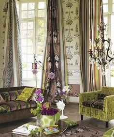 Olive, Mocha & Fuscia  - Loving this color combo!
