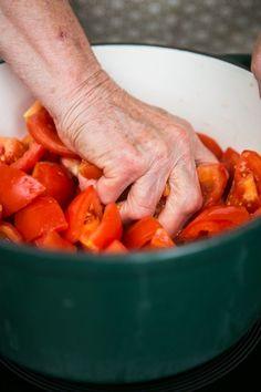Babiččin domácí kečup - Proženy Sweet Potato, Carrots, Potatoes, Vegetables, Food, Carrot, Potato, Hoods, Vegetable Recipes