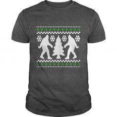 Cool Ugly Holiday Bigfoot Christmas Sweater T shirts