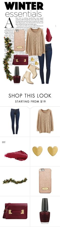"""""""winter boots #2"""" by victoriakfc on Polyvore featuring Frame Denim, STELLA McCARTNEY, Urban Decay, MICHAEL Michael Kors, Sophie Hulme and OPI"""