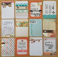 Dozen Beautiful Handmade Project Life Cards 3x4 by jessicabree, $8.25