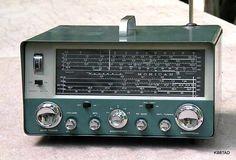A shortwave radio built from 1969 Heathkit.