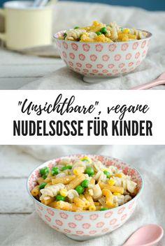 Vegane unsichtbare Nudelsoße für heikle Kinder