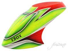 FUC-130LG02 FUSUNO Alternating Airbrush Fiberglass Canopy 130X Logo