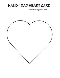 Father& Day Card Handy Dad Heart Craft is part of Kids Crafts Cards Father& Day Celebrate dad with a special Father& Day card A heart card to make with the students in the class for dad, g - Diy Father's Day Crafts, Father's Day Diy, Craft Projects For Kids, Craft Kids, Kids Crafts, Cute Valentines Card, Easy Fathers Day Craft, Non Toy Gifts, Borders For Paper