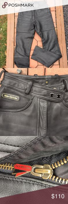 """Hein Gericke Motorcycle Leather Riding Pants Size 6. Super nice vintage riding pants. Inseam: 31"""". 11.5"""" front Rise. If you are familiar with Hein Gericke leathers, you know how nice these are. Be sure to view the other items in our closet. We offer both women's and Mens items in a variety of sizes. Bundle and save!! Thank you for viewing our item!! Hein Gericke Pants"""