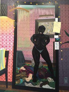 "Kerry James Marshall, ""Untitled (Mirror Girl),"" 2014, Met Breuer"