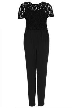 topshop lace black jumpsuit