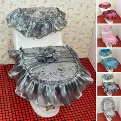 New warmer #bathroom set lace #velvet zip toilet seat #cover tank lid cloth 3pc,  View more on the LINK: http://www.zeppy.io/product/gb/2/391335593369/