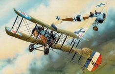 """Airco DH-2 over the Somme 1916""                                                                                                                                                                                 More"