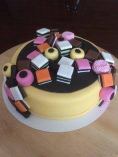 English liquorice cake. Everything is made of fondant.