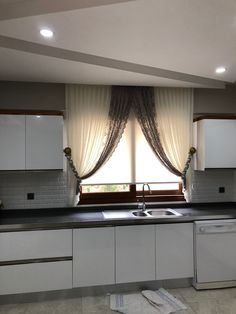 Home Decor Kitchen, Curtains Living Room, Living Room Decor Curtains, Home Decor, Living Room Interior, Home Deco, Interior Design, Curtain Designs, Kid Room Decor