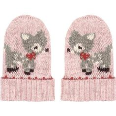 cath kidston fawn mittens in pink