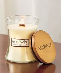 Eco Wix Wood Wick Candle will fill your home with a wonderful scent and sound. It has a single wooden wick that makes the soothing sound of a campfire when lit.