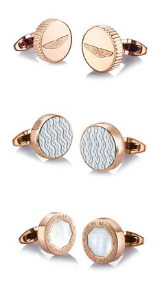 Rose Gold Plated Aston Martin Cufflinks
