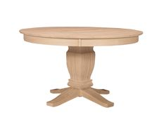 Solid Top Round Pedestal Table & Base 52x52