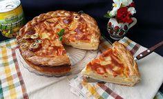 Tarta cu Mascarpone si Fructe Exotice Camembert Cheese, Pancakes, Dairy, Breakfast, Food, Mascarpone, Pie, Morning Coffee, Essen