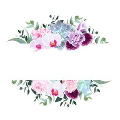 Find Horizontal Botanical Vector Design Banner Purple stock images in HD and millions of other royalty-free stock photos, illustrations and vectors in the Shutterstock collection. Flower Background Wallpaper, Flower Backgrounds, Wallpaper Backgrounds, Hydrangea, Rosa Rose, Purple Orchids, Purple Rose, Flower Clipart, Flower Frame