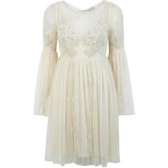 esmabou's save of Miss Selfridge Cream Midsummer Smock Dress on Wanelo