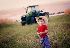 Toddler tractor photography