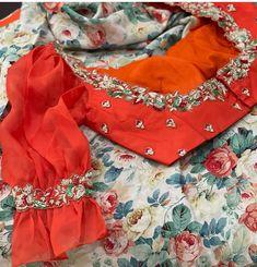 Blouse Patterns, Saree Blouse Designs, Computer Works, Maggam Works, Half Saree, Work Blouse, Designer Wear, Indian Outfits, Sarees